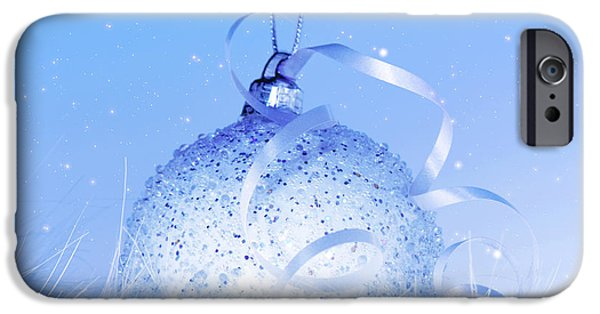 Wintertime iPhone Cases - Beautiful Christmas tree decoration iPhone Case by Anna Omelchenko