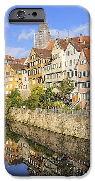 Beautiful german town Tuebingen - Neckar waterfront iPhone Case by Matthias Hauser