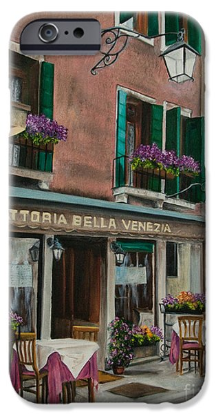 Beautiful Restaurant In Venice iPhone Case by Charlotte Blanchard