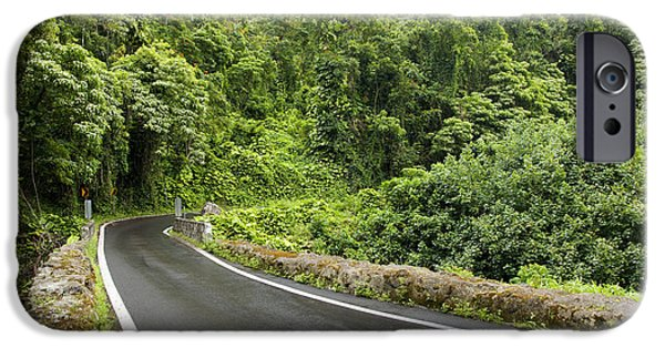 Asphalt iPhone Cases - Beautiful Road to Hana iPhone Case by Jenna Szerlag