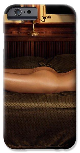 Beautiful Woman Sleeping Naked iPhone Case by Oleksiy Maksymenko