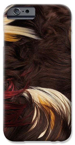 Beautiful Woman with Colorful Hair Extensions iPhone Case by Oleksiy Maksymenko