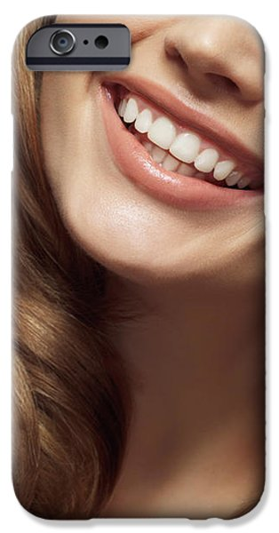 Beautiful Young Smiling Woman iPhone Case by Oleksiy Maksymenko