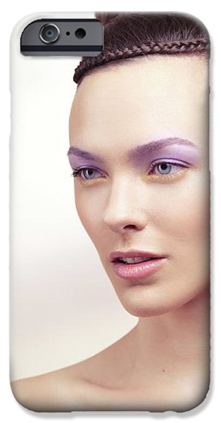 Beautiful Young Woman Portrait iPhone Case by Oleksiy Maksymenko