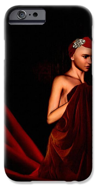 Patient iPhone Cases - Beautifully Red iPhone Case by Lourry Legarde