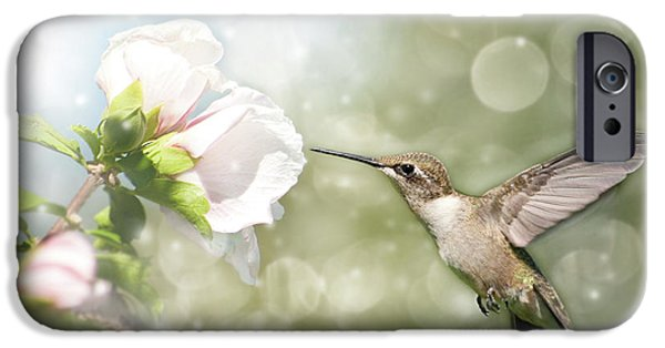 Althea iPhone Cases - Beauty in flight iPhone Case by Sari ONeal
