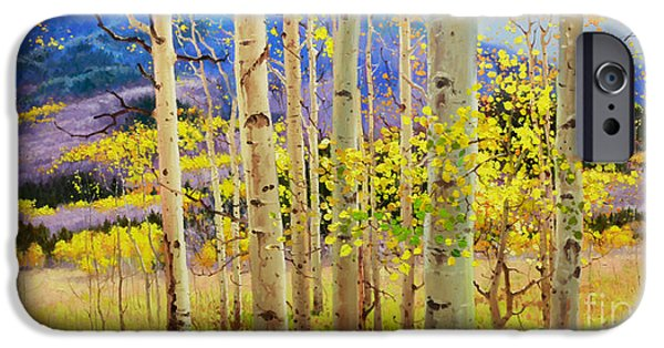 Contemporary Fine Art iPhone Cases - Beauty of Aspen Colorado iPhone Case by Gary Kim