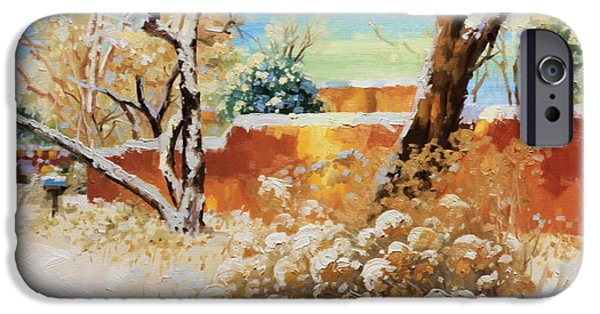 Fineart iPhone Cases - Beauty of winter Santa Fe iPhone Case by Gary Kim