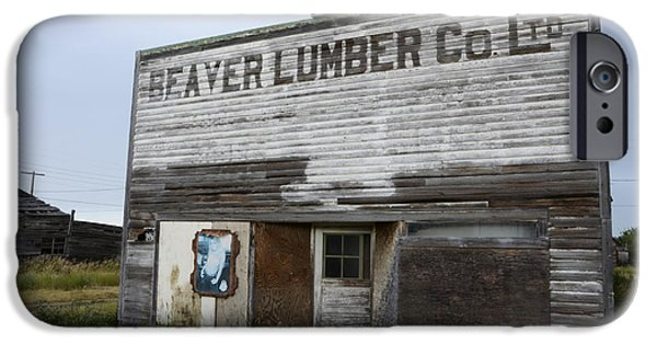 Beaver iPhone Cases - Beaver Lumber Company Ltd iPhone Case by Bob Christopher