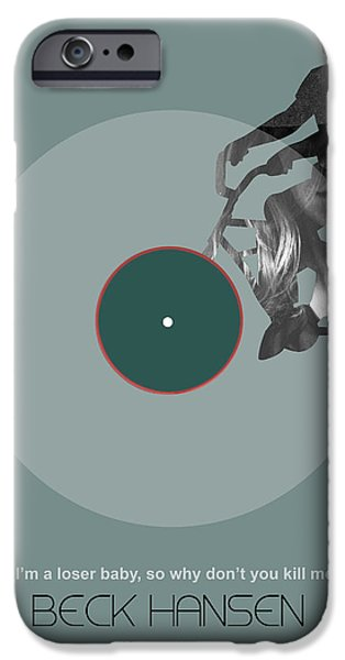 Sound Digital Art iPhone Cases - Beck Poster iPhone Case by Naxart Studio