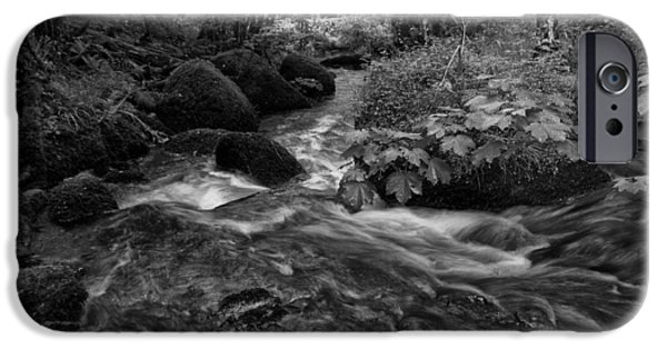 Becky Photographs iPhone Cases - Becky Falls Down Stream iPhone Case by Jay Lethbridge