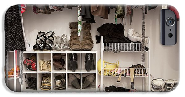 Storage Furniture iPhone Cases - Bedroom Closet Organised Storage iPhone Case by Christian Scully