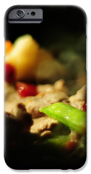 Beef with Vegetables iPhone Case by Rebecca Sherman