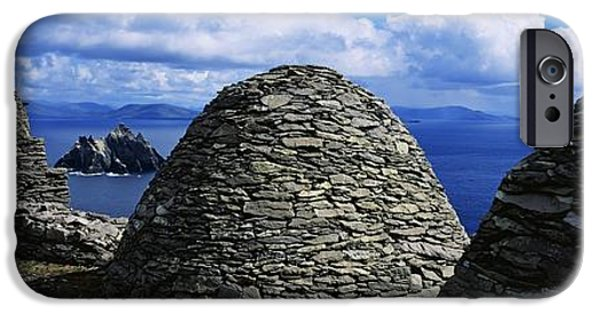 Michael iPhone Cases - Beehive Huts At The Coast, Skellig iPhone Case by The Irish Image Collection