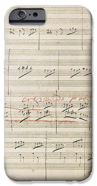 BEETHOVEN MANUSCRIPT, 1806 iPhone Case by Granger