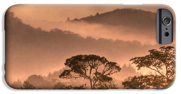 Expressionism Digital Art iPhone Cases - Before Sunset iPhone Case by Heiko Koehrer-Wagner
