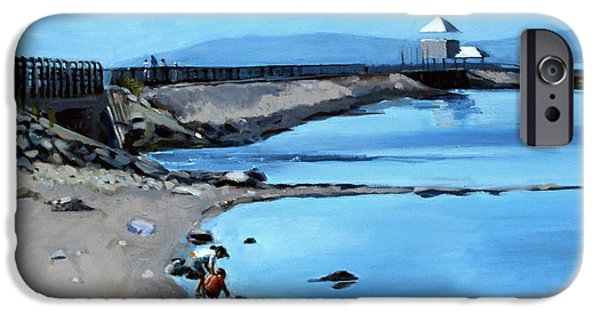 Pleasure iPhone Cases - Before the Fog at Castle Island iPhone Case by Deb Putnam