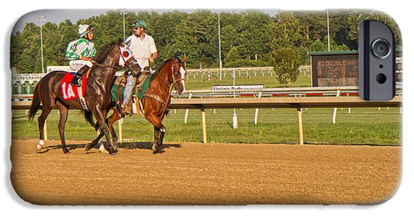 Horse Racing iPhone Cases - Before the Race iPhone Case by Betsy A  Cutler