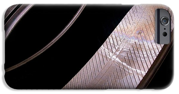 Abstract Art Photographs iPhone Cases - Before the Rubber Meets the Road iPhone Case by Rona Black