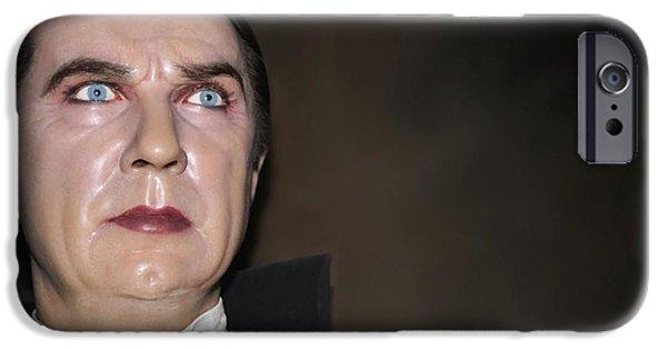 Statue Portrait iPhone Cases - Bela Lugosi As Dracula iPhone Case by Sophie Vigneault