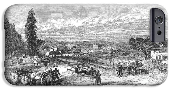Belgrade iPhone Cases - Belgrade: Market, 1876 iPhone Case by Granger