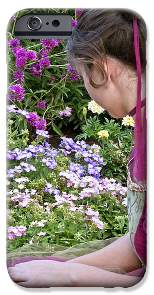 Innocence Mixed Media iPhone Cases - Belle In The Garden iPhone Case by Angelina Vick