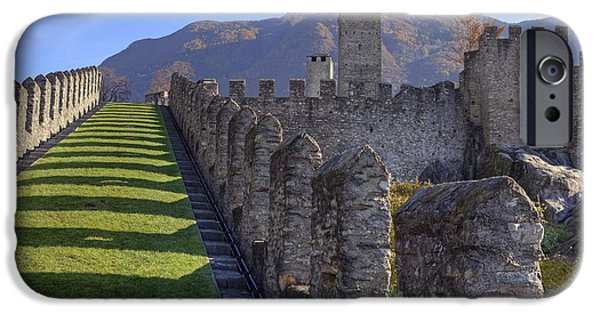 Castle iPhone Cases - Bellinzona - Castelgrande iPhone Case by Joana Kruse