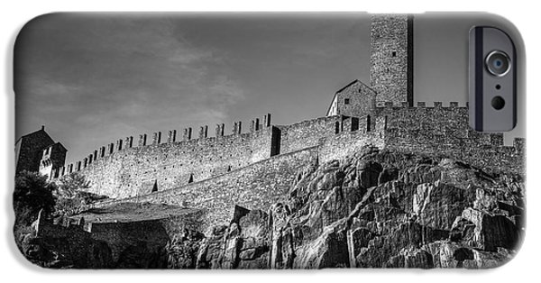 Castle iPhone Cases - Bellinzona Switzerland Castelgrande iPhone Case by Joana Kruse