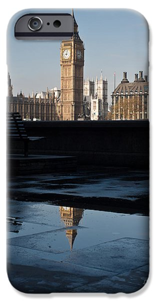 Big Ben iPhone Cases - Ben Relfected iPhone Case by Mike Reid