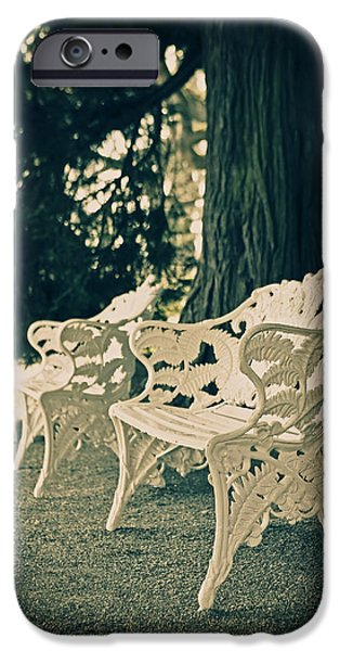 Pause iPhone Cases - Benches iPhone Case by Joana Kruse