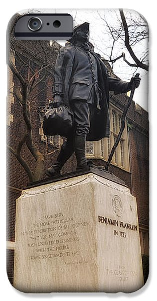 Benjamin Franklin  iPhone Case by Bill Cannon
