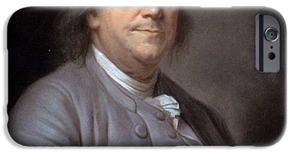 Franklin iPhone Cases - Benjamin Franklin iPhone Case by Granger