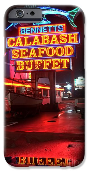 Bennetts Calabash Seafood Buffet Myrtle Beach iPhone Case by Corky Willis Atlanta Photography