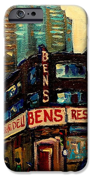 BENS RESTAURANT DELI iPhone Case by CAROLE SPANDAU