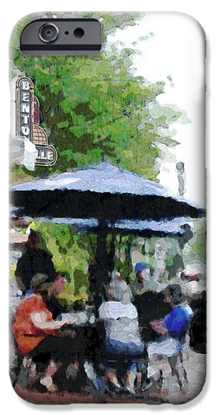 Bentonville On The Square iPhone Case by Ann Powell