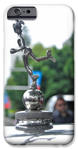 Benz 1916 DS2 - Hood Ornament iPhone Case by Kaye Menner
