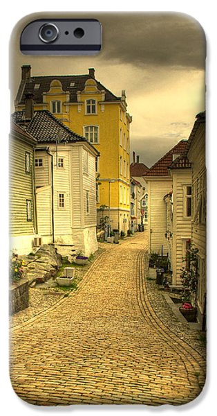 Norway iPhone Cases - Bergen Street iPhone Case by Alan Pickersgill