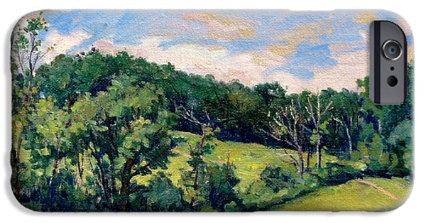 Recently Sold -  - Tree Art Print iPhone Cases - Berkshires Hillside iPhone Case by Thor Wickstrom