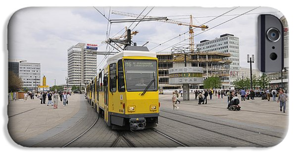 U-bahn iPhone Cases - Berlin Alexanderplatz square iPhone Case by Matthias Hauser