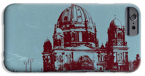 Berlin iPhone Cases - Berlin Cathedral iPhone Case by Naxart Studio