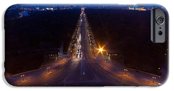 Berlin iPhone Cases - Berlin from the Siegessaule  iPhone Case by Mike Reid