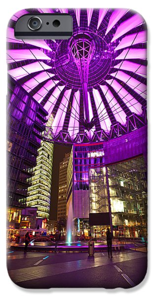 Berlin iPhone Cases - Berlin Sony Center iPhone Case by Mike Reid