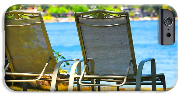 Lawn Chair iPhone Cases - Best Seats on the Island 2 iPhone Case by Cheryl Young