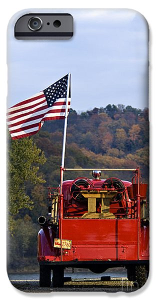 Bethlehem Fire Truck - D008199 iPhone Case by Daniel Dempster