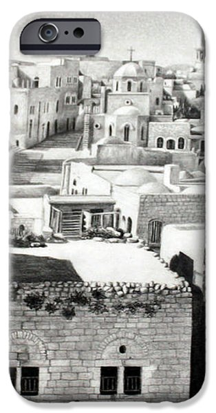 Bethlehem Old Town iPhone Case by Munir Alawi