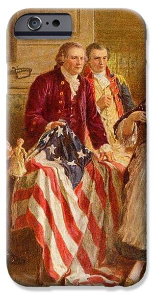 Betsy Ross 1777 iPhone Case by Jean Leon Gerome Ferris