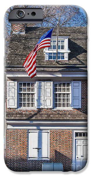 Betsy Ross iPhone Cases - Betsy Ross House iPhone Case by John Greim