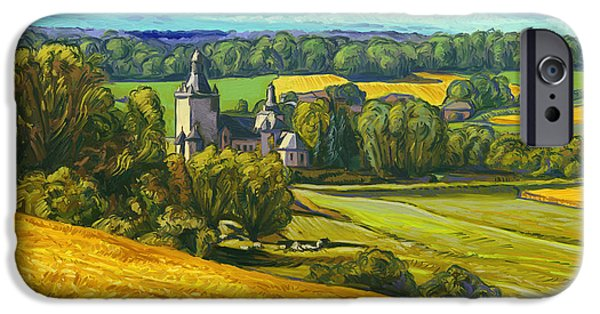 Limburg iPhone Cases - Beusdael Castle Sippenaeken iPhone Case by Nop Briex