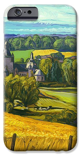 Beusdael Castle Sippenaeken iPhone Case by Nop Briex