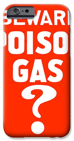 Poison iPhone Cases - Beware Poison Gas iPhone Case by War Is Hell Store